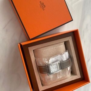 sold /Hermes Heure H watch, 21 x 21 mm